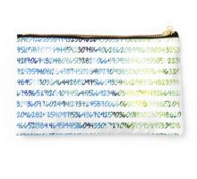 Digits of Pi (Green & Blue) Studio Pouch