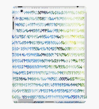 Digits of Pi (Green & Blue) iPad Case/Skin