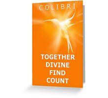 Ho'oponopono Colibri -  Prosperity Switchwords Greeting Card