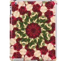 Old Red Rose Kaleidoscope 10 iPad Case/Skin