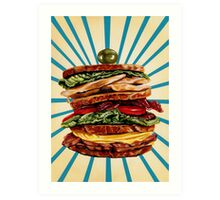 Turkey Club on Rye Sandwich Art Print