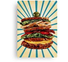 Turkey Club on Rye Sandwich Canvas Print