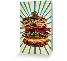 Turkey Club on Rye Greeting Card