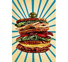 Turkey Club on Rye Photographic Print