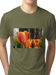 Orange and Yellow Tulips Tri-blend T-Shirt
