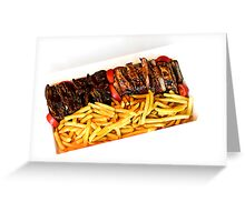 Off the Grill ribs Greeting Card