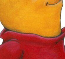 pooh in spring Sticker