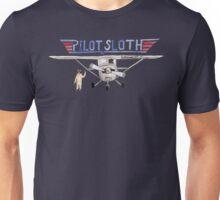 Watercolor Pilot Sloth Unisex T-Shirt