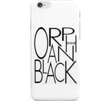 Orphan Black - Letters (Black) iPhone Case/Skin