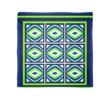2015, TEXTILE DESIGNS, green, blue, geometric Scarf
