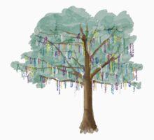 Mardi Gras Tree - watercolor by jay-p