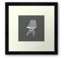 Eames Wire Chair - Inverted Framed Print