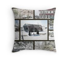 Bridges Of Madison County Collage Throw Pillow