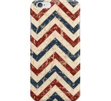 Vintage Patriotic Chevron Pattern  iPhone Case/Skin