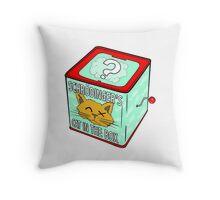 Schrödinger's Cat in the Box Throw Pillow