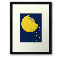 """If I could take a mouse to the moon…"" Framed Print"