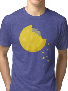 """If I could take a mouse to the moon…"" Tri-blend T-Shirt"