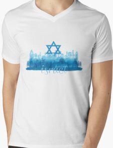 Israel cityscape - watercolor Mens V-Neck T-Shirt