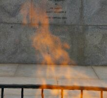 Ghostly Dance Of The Shrine's Eternal Flame by David McMahon