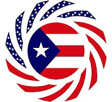 Puerto Rican American Multinational Patriot Flag Series Photographic Print