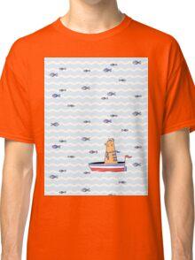Salty sailor cat. Classic T-Shirt