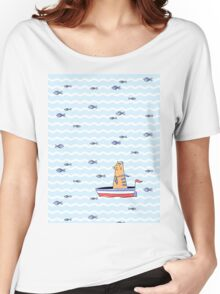 Salty sailor cat. Women's Relaxed Fit T-Shirt