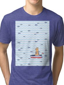 Salty sailor cat. Tri-blend T-Shirt