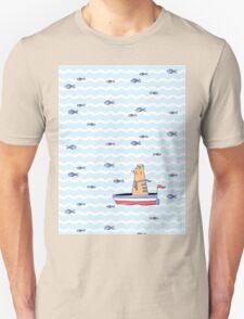 Salty sailor cat. Unisex T-Shirt