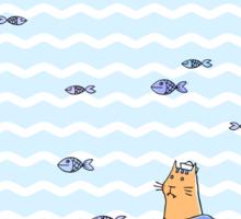Salty sailor cat. Sticker
