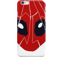 Deadpool mask mosaic iPhone Case/Skin