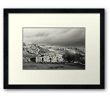Stone hut, rural Ireland Framed Print