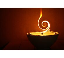 twirling flame Photographic Print