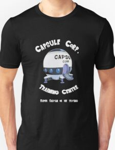 Capsule Corp. Training Centre (White Text) T-Shirt