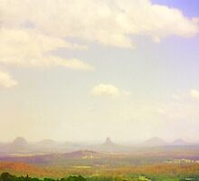 Glasshouse Mountains by Hugh Fathers