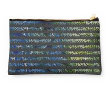Digits of Pi (Green & Blue on Grey Background) Studio Pouch