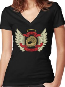 Hail Lord Helix Women's Fitted V-Neck T-Shirt