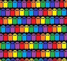 Mini Ghost Army! - Rainbow by Hayden Di Bona