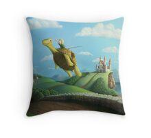 Flight of the Golden Turtle Throw Pillow