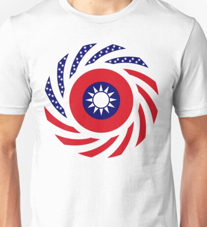 Taiwanese American Multinational Patriot Flag Series Unisex T-Shirt