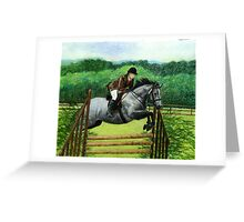 Connemara Pony Hunter Portrait Greeting Card