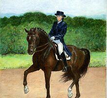 Dressage Horse Portrait by Oldetimemercan