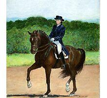 Dressage Horse Portrait Photographic Print