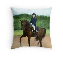 Dressage Horse Portrait Throw Pillow