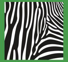 Zebra Print One Piece - Short Sleeve