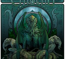 The Great Cthulhu by Jeff Powers Illustration