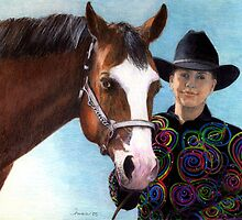 Quarter Horse Youth Halter Class Winner Portrait by Oldetimemercan