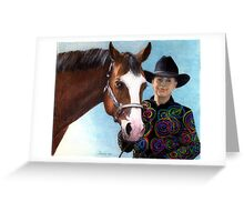 Quarter Horse Youth Halter Class Winner Portrait Greeting Card