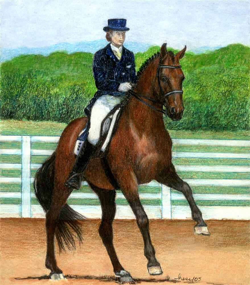 Hanoverian Dressage Horse Portrait by Oldetimemercan