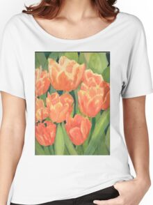 Citrus Tulips  Women's Relaxed Fit T-Shirt
