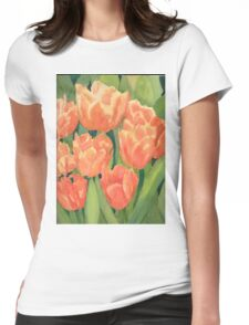 Citrus Tulips  Womens Fitted T-Shirt